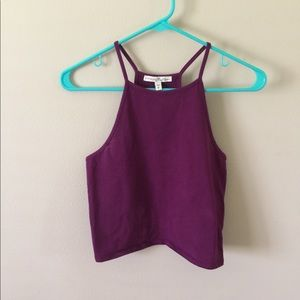 High Neck cropped cami top